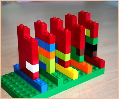 fotografía de Gráficas hechas con bloques de lego