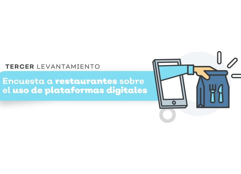 Tercer levantamiento, encuesta a restaurantes sobre el uso de plataformas digitales
