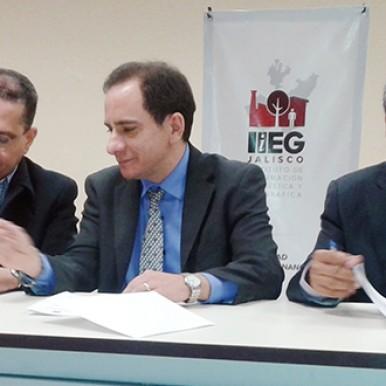 Firma de Acuerdo de Cooperación Técnica IIEG, Banco Mundial e INEGI