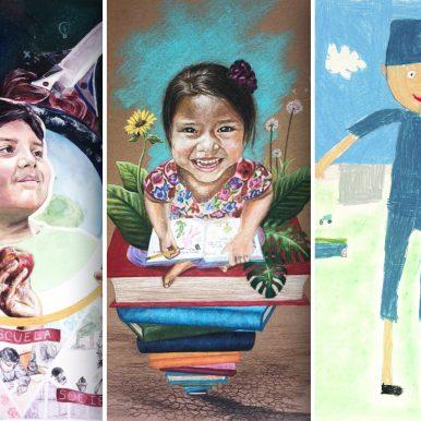 """Ganadores en Jalisco del XXV Concurso Nacional de Dibujo y Pintura Infantil y Juvenil 2018, """"Educar para prevenir…"""" en su fase estatal."""